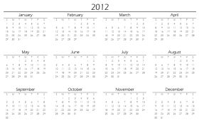 2012 Printable Yearly Calendar on Printable Yearly Annual Calendars ...