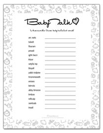 Printable Baby Shower Games | KeepandShare