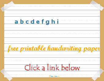 free printable preschool writing paper