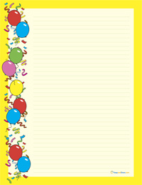 Free Printable Birthday Stationery Paper