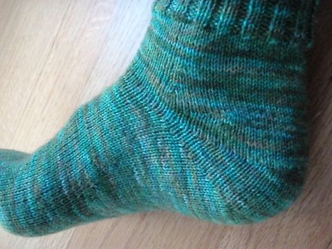 Knitting Patterns Heel Less Socks : Completed