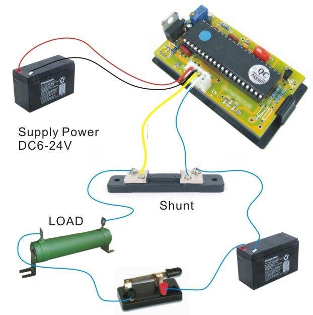 dc 0 10a bidirectional current ammeter digital. Black Bedroom Furniture Sets. Home Design Ideas