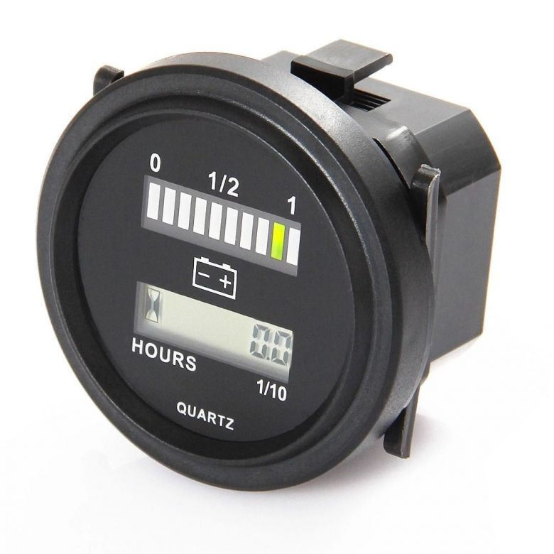 7 2 Volt Hour Meters : Lead acid battery capacity indicator engine hour meter v