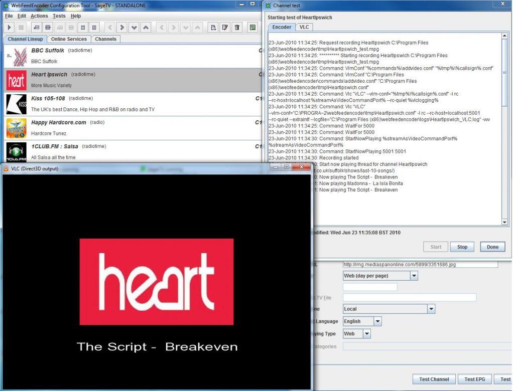 SageTV Community - Downloads - Web Feed Encoder 0 9 7