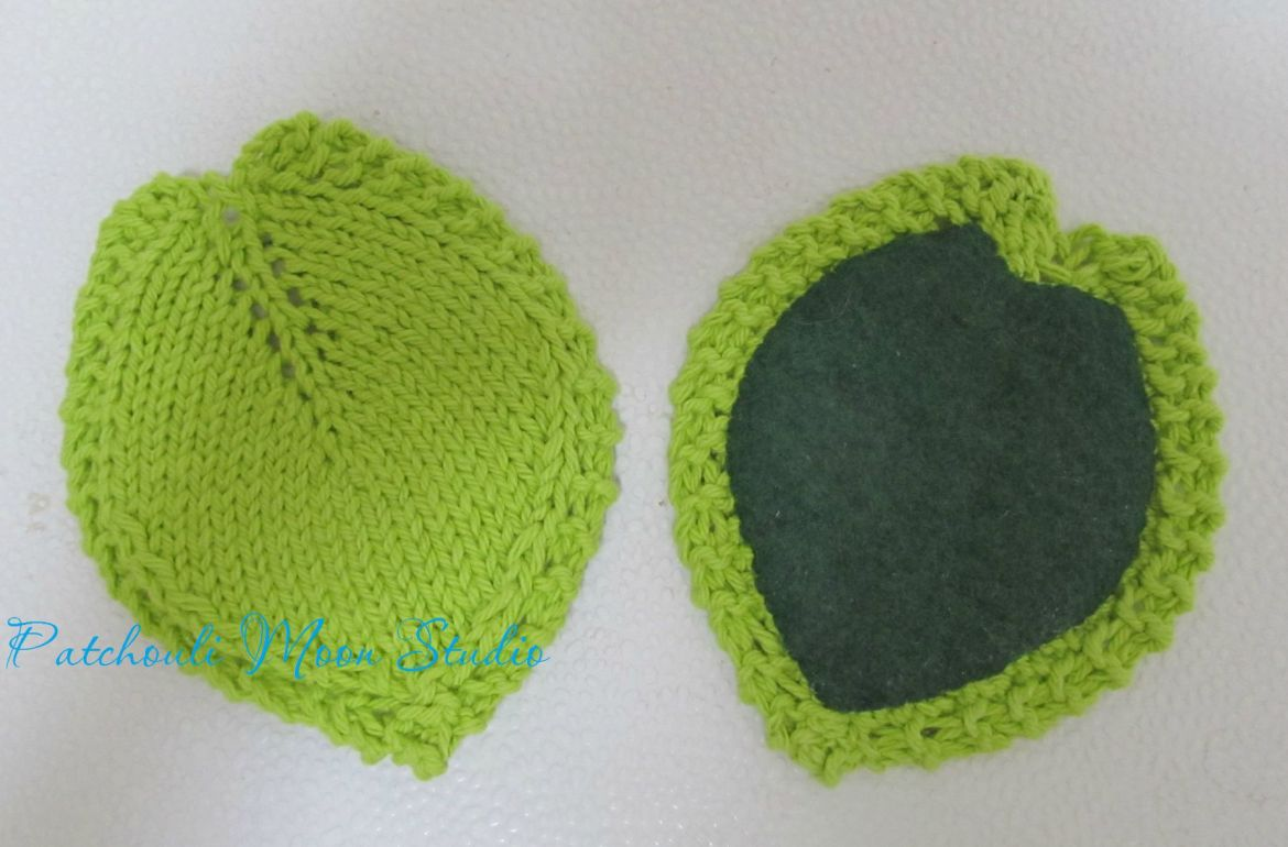 Knitted Leaf Pattern : Patchouli Moon Studio: Knitted Leaf Coasters