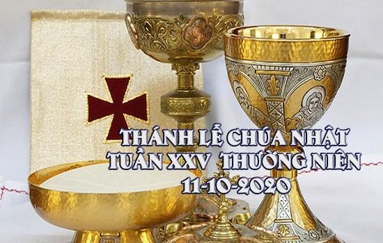 THÁNH LỄ CHÚA NHẬT TUẦN XXIX THƯỜNG NIÊN NĂM A 18-10-2020
