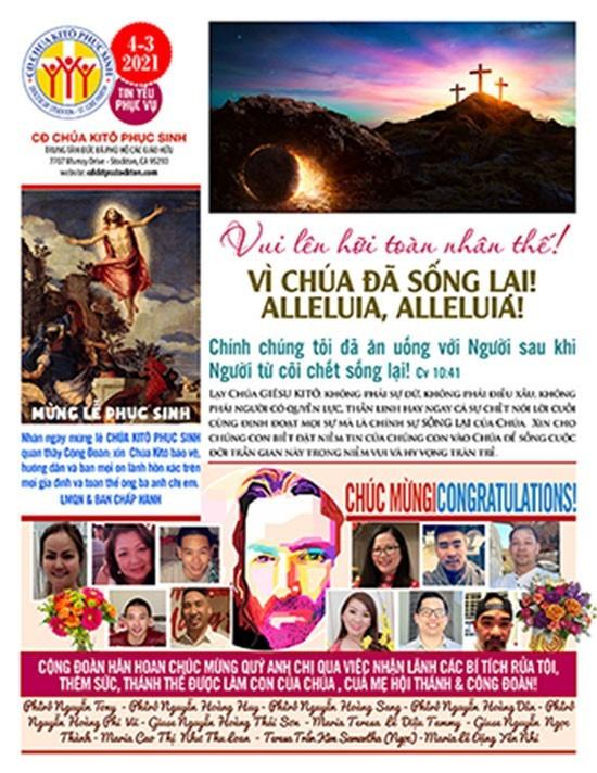 BẢN TIN CỘNG ĐOÀN CHÚA NHẬT I MÙA PHỤC SINH NĂM B – LỄ PHỤC SINH  04-04-2021