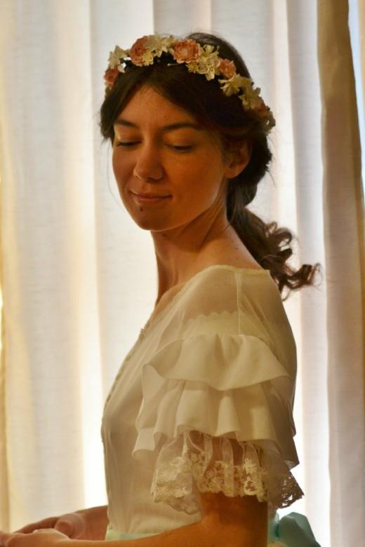 2014 riveting intriguing cream flat neckline strapless beads working ruched cocktail cream wedding dress